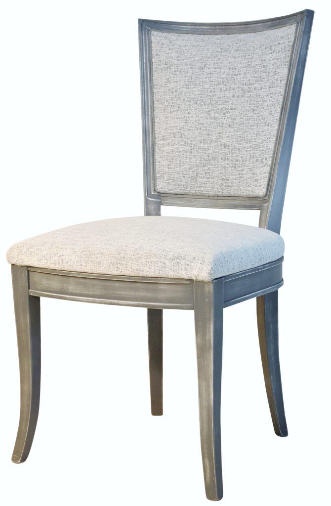 Trianon dos tapissé blanc grisé Brigitte blanc / TISSUS SUPRIMÉ