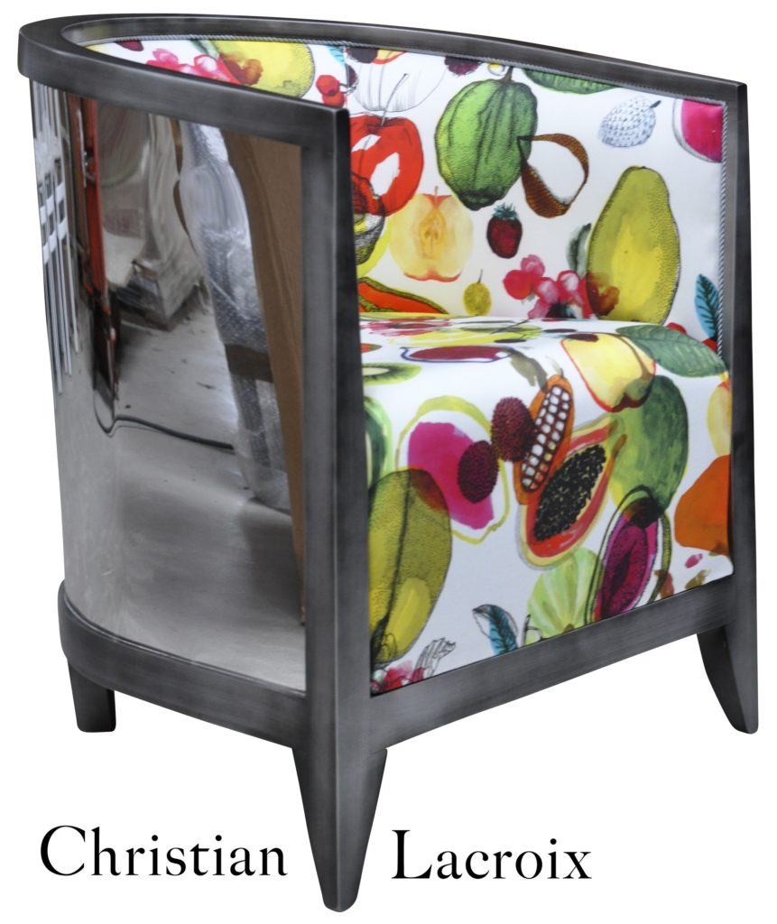 Miroir Vieil Argent Fruits