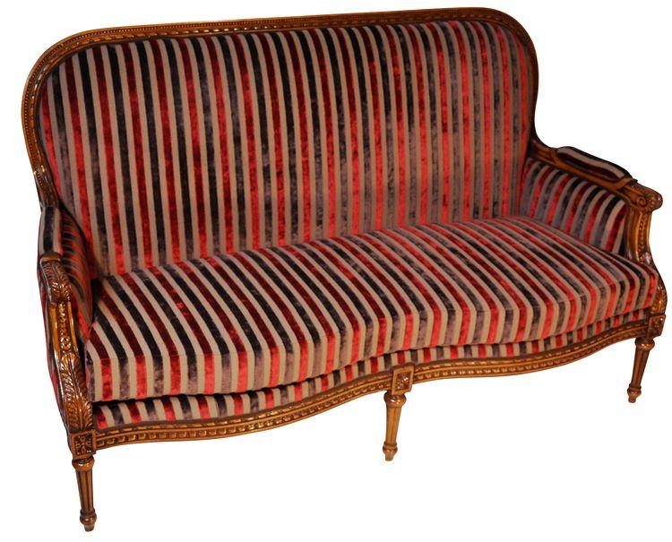 Canapé 2 places Louis XVI