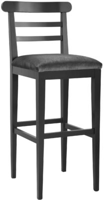 tabouret Soho finition anthracite tissu Brunei gris