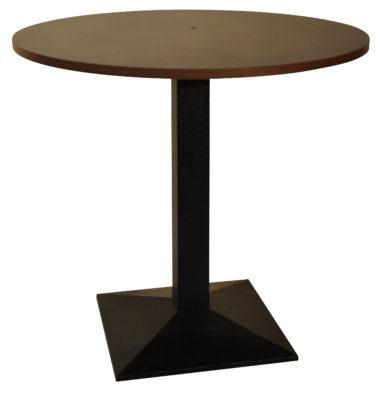 Table Pied 507 Fonte Noire Plateau Diamètre 80 cm