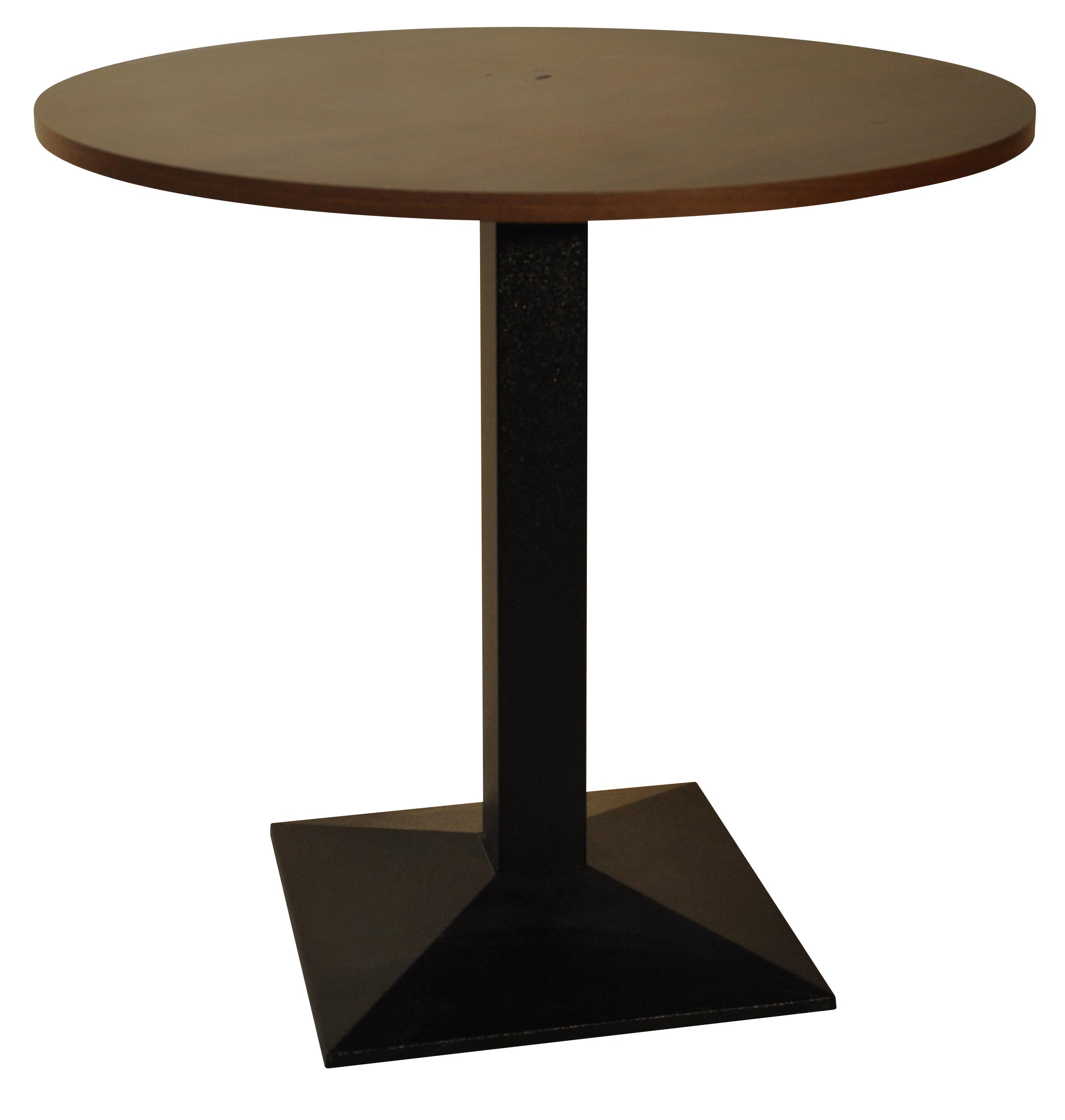 table pied 507 fonte noire plateau diam tre 80 cm. Black Bedroom Furniture Sets. Home Design Ideas