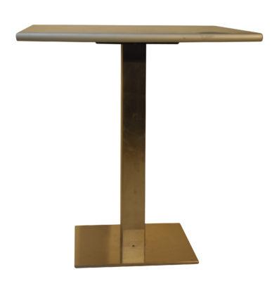 Table Pied Chrome Brillant Plateau 80