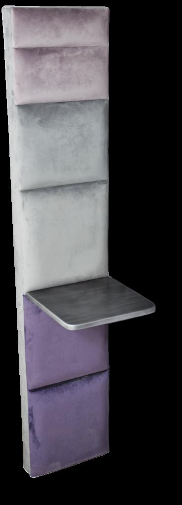 LOUNA colonne et tablette clair 30